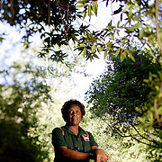 ANGELES NATIONAL FOREST, CA, June 12, 2008: 1968 Olympian Wyomia Tyus is a Naturalist for Los Angeles Unified School District where she teaches children about nature.