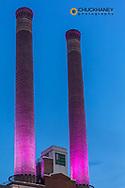 Steam Plant stacks in downtown Spokane, Washington, USA