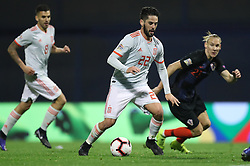 ZAGREB, Nov. 15, 2018  Isco (C) of Spain during the UEFA Nations League A group 4 match between Croatia and Spain at Maksimir stadium in Zagreb, Croatia, on November 15. Croatia won 3:2. (Credit Image: © Igor Kralj/Pixsell/Xinhua via ZUMA Wire)