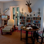 Ernest Hemingway's writing studio and cabinet and typing machine, Key West