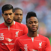 Raheem Sterling, Liverpool, during the Manchester City Vs Liverpool FC Guinness International Champions Cup match at Yankee Stadium, The Bronx, New York, USA. 30th July 2014. Photo Tim Clayton