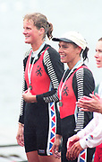 Tampere Kaukajaervi,  FINLAND.   Women's Double Sculls NED W2X. Eeke van NES and Irene EIJS, competing at the 1995 World Rowing Championships - Lake Tampere, 08.1995<br /> <br /> [Mandatory Credit; Peter Spurrier/Intersport-images] Re-Edited and file ref No. updated, 16th January 2021.