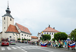Supporters in Slovenska Bistrica during 1st Stage of 27th Tour of Slovenia 2021 cycling race between Ptuj and Rogaska Slatina (151,5 km), on June 9, 2021 in Slovenia. Photo by Vid Ponikvar / Sportida