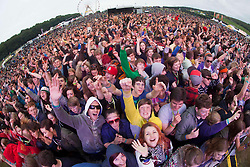The Friendly Fires on the main stage..Sunday at Rockness 2012..©Michael Schofield..
