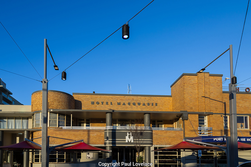 Hotel Macquarie in Port Macquarie, NSW. A great example of an Australian Art Deco Building.
