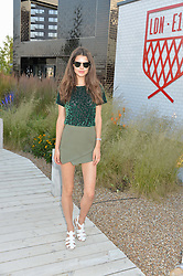 SARAH ANN MACKLIN at a reception hosted by Eco World Ballymore and the English National Ballet to celebrate their partnership at London City Island, Orchard Place, London E14 on 1st July 2015