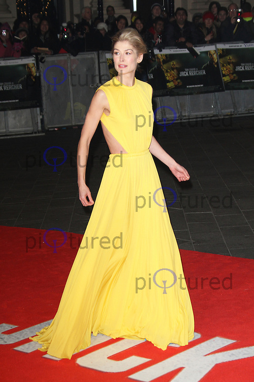 LONDON - DECEMBER 10: Rosamund Pike attended the World Film Premiere of 'Jack Reacher' at the Odeon Cinema, Leicester Square, London, UK. December 10, 2012. (Photo by Richard Goldschmidt)