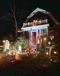 Haunted House at Halloween, Keene, NH