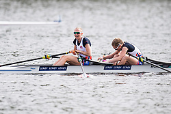 August 5, 2018 - Glasgow, UNITED KINGDOM - 180805 Siri Eva Kristiansen (stroke) and Maia Lund (bow) of Norway after the final B of women's lightweight double sculls rowing during the European Championships on August 5, 2018 in Glasgow..Photo: Jon Olav Nesvold / BILDBYRÃ…N / kod JE / 160285 (Credit Image: © Jon Olav Nesvold/Bildbyran via ZUMA Press)