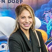 NLD/Amsterdam/20170318 - première De Smurfen en het Verloren Dorp, Sarah Chronis