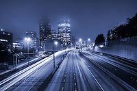 Interstate 5, Downtown Seattle (monochrome)