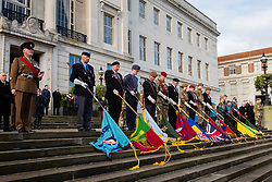 Remembrance Sunday Barnsley Standard Bearers  <br /> <br />  Copyright Paul David Drabble<br />  10 November 2019<br />  www.pauldaviddrabble.co.uk