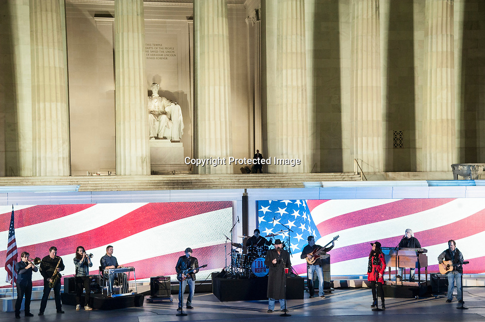 Toby Keith performs during The 58th Presidential Inauguration Welcome Concert at the Lincoln Memorial in Washington DC on January 19, 2017.