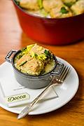 36100 Louisvile, Ky. - Dec. 18, 2014 - Decca Restaurant's Chicken and root vegetable stew with schmalz dumplings.<br /> <br /> William DeShazer for the Wall Street Journal