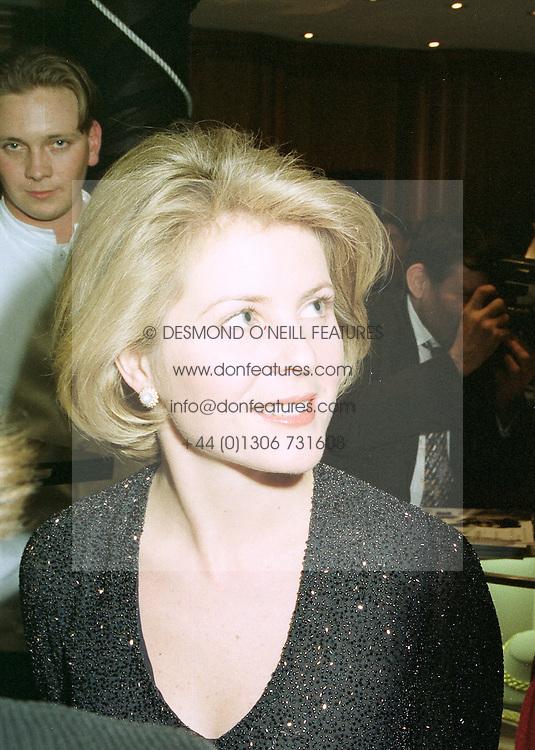 VISCOUNTESS LINLEY at a fashion show in London on April 30th 1997.LYA 54