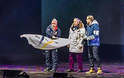 20.02.2019, Seefeld, AUT, FIS Weltmeisterschaften Ski Nordisch, Seefeld 2019, Eröffnungsfeier, im Bild OeSV Praesident Peter Schroecksnadel, FIS Praesident Gian Franco Kasper // OeSV President Peter Schroecksnadel FIS President Gian Franco Kasper during the opening ceremony of the FIS Nordic Ski World Championships 2019. Seefeld, Austria on 2019/02/20. EXPA Pictures © 2019, PhotoCredit: EXPA/ JFK