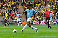 Gabriel Jesus (33) of Manchester City on the attack  during the The FA Cup Final match between Manchester City and Watford at Wembley Stadium, London, England on 18 May 2019.