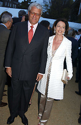 DR & MRS GERT RUDOLPH FLICK he is the German multi-millionaire at the Cartier Chelsea Flower Show dinat the annual Cartier Flower Show Diner held at The Physics Garden, Chelsea, London on 23rd May 2005.<br /><br />NON EXCLUSIVE - WORLD RIGHTS