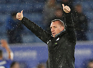 Brendan Rogers manager of Leicester City gives the thumbs up during the Premier League match at the King Power Stadium, Leicester. Picture date: 9th March 2020. Picture credit should read: Darren Staples/Sportimage
