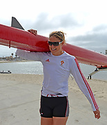 """San Diego, California. USA.  USA Double Olympian Gold Medalist,  Zsuzsanna """"Susan"""" FRANCIA, in  her role as  Women's Varsity coach at the San Diego Rowing Club. Mission Bay.  15:53:45.  Thursday  11/04/2013   [Mandatory Credit. Peter Spurrier/Intersport Images]"""
