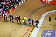 Women Keirin, illustration start, during the Track Cycling European Championships Glasgow 2018, at Sir Chris Hoy Velodrome, in Glasgow, Great Britain, Day 6, on August 7, 2018 - Photo luca Bettini / BettiniPhoto / ProSportsImages / DPPI<br /> - Restriction / Netherlands out, Belgium out, Spain out, Italy out -