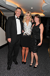 MOLLIE KING and her parents STEVE & SUE KING at the Dyslexia Action Awards Dinner at The Savoy Hotel, London on 29th November 2012.