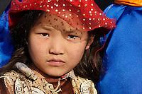 Mongolie. Province de Tov. Enfant nomade mongol. // Mongolia. Tov province. Mongolian children.