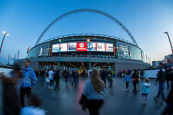 Fans arrive at Wembley ahead of England v Estonia match - Mandatory byline: Jason Brown/JMP - 07966 386802 - 09/10/2015- FOOTBALL - Wembley Stadium - London, England - England v Estonia - Euro 2016 Qualifying - Group E