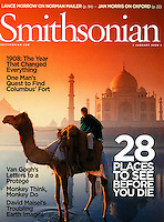Smithsonian Magazine cover-Taj Mahal, India