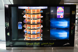 New vending machine with full size digital video screen in Dubai, UAE, United Arab Emirates,