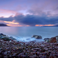 Rossbeigh Beach Panorama with Stormy Horizon County Kerry Ireland / kr048