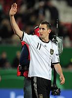 Fotball<br /> Tyskland v Kasakstan<br /> 26.03.2011<br /> Foto: Witters/Digitalsport<br /> NORWAY ONLY<br /> <br /> Schlussjubel Miroslav Klose (Deutschland)<br /> EM-Qualifikation Deutschland - Kasachstan 4:0