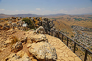 Mount Arbel Nature Reserve And National Park, Galilee, Israel overlooking Jezreel Valley