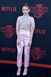 """Sadie Sink attends the premiere of Netflix's """"Stranger Things"""" Season 3 on June 28, 2019 in Santa Monica, CA, USA. Photo by Lionel Hahn/ABACAPRESS.COM"""