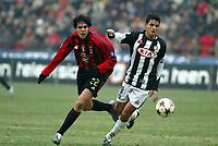 Milano 16-01-2005<br />Campionato  Serie A Tim 2004-2005<br />Milan Udinese<br />nella  foto Ricardo Kakà Milan (L), Felipe Da Silva Dalbelo Dias Udinese (R)<br />Foto Snapshot / Graffiti