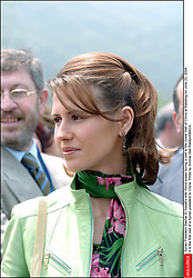 File photo - Syrian President Bashar Al Assad's wife Asma poses during a visit to the Great Wall of China at Badaling on June 22, 2004. It is the first visit of a Syrian president to China. Syria's British-born first lady Asma Assad has begun treatment for breast cancer. The Syrian presidency posted on its Facebook page a photo of President Bashar Assad sitting next to his wife in a hospital room. Photo by Ammar Abd Rabbo/ABACA.