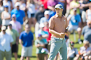 Jordan Spieth looks on during the final round of the AT&T Byron Nelson in Las Colinas, Texas on May 31, 2015. (Cooper Neill for The New York Times)