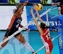 27-09-2014 ITA: World Championship Volleyball Rusland - Nederland, Verona<br /> Nederland verliest met 3-1 van Rusland / Celeste Plak