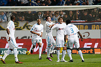 FOOTBALL - FRENCH CHAMPIONSHIP 2010/2011 - L1 - OLYMPIQUE DE MARSEILLE v PARIS SG - 20/03/2011 - PHOTO PHILIPPE LAURENSON / DPPI - JOY GABRIEL HEINZE (OM) AFTER HIS GOAL