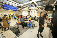 A customer shops at the grand opening of the new Ikea in Burbank. The new Ikea store comes in at 456,000 sf, compared to the old one at 242,000 sf. And 1,700 parking places.  Feb. 8, 2017  Photo by David Sprague