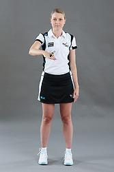Umpire Jemma Carlton sigalling entry to area