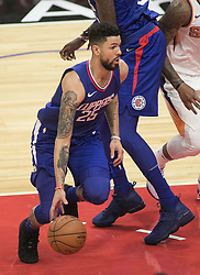 October 21, 2017 - Los Angeles, California, U.S - Austin Rivers #25 of the Los Angeles Clippers with the ball during their first regular season game against the Phoenix Suns on Saturday October 21, 2017 at the Staples Center in Los Angeles, California. Clippers defeat Suns, 130-88. (Credit Image: © Prensa Internacional via ZUMA Wire)
