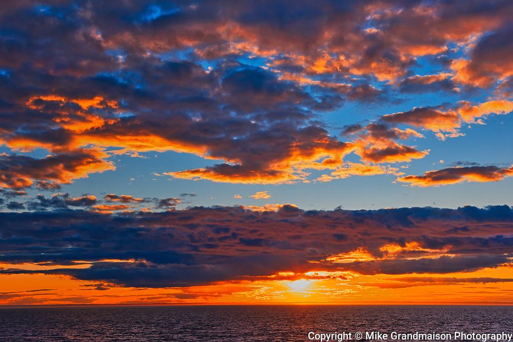 St. Lawrence River sunrise<br />Sainte-Flavie<br />Quebec<br />Canada