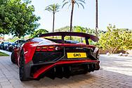 26-07-2016 Foto's persreis Golfers Magazine met Pin High naar Alicante en Valencia in Spanje. <br /> Foto: Dure auto's voor het Marriot.