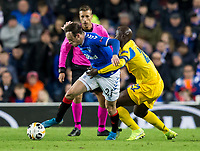 Football - 2019 / 2020 UEFA Europa League - Group G: Rangers vs. Porto<br /> <br /> Brandon Barker of Rangers vies with Danilo Pereira of FC Porto , at Ibrox.<br /> <br /> COLORSPORT/BRUCE WHITE