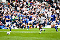 Daniel Johnson of Preston North End scores the equalising goal to make it 1-1 - Mandatory byline: Matt McNulty/JMP - 07966386802 - 22/08/2015 - FOOTBALL - Deepdale -Preston,England - Preston North End v Ipswich Town - Sky Bet Championship