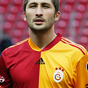 Galatasaray's Sabri SARIOGLU during their Turkish superleague soccer derby match Galatasaray between Trabzonspor at the TT Arena in Istanbul Turkey on Sunday, 10 April 2011. Photo by TURKPIX