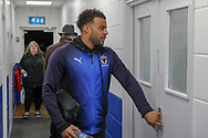 AFC Wimbledon midfielder Tom Soares (19) arrivoing during the The FA Cup match between AFC Wimbledon and West Ham United at the Cherry Red Records Stadium, Kingston, England on 26 January 2019.
