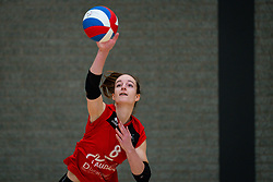 Lisa Vossen of VCN in action during the league match Laudame Financials VCN - FAST on January 23, 2021 in Capelle aan de IJssel.