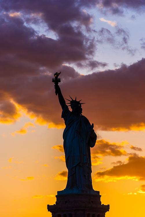 Statue of Liberty, New York Harbor, New York, New York USA.